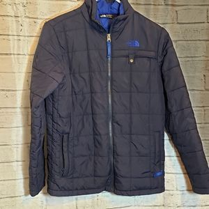 The North Face navy blue boy's quilted jacket